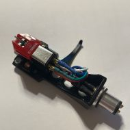 Audio Technica AT VM95ML Cartridge fitted to BLACK Headshell