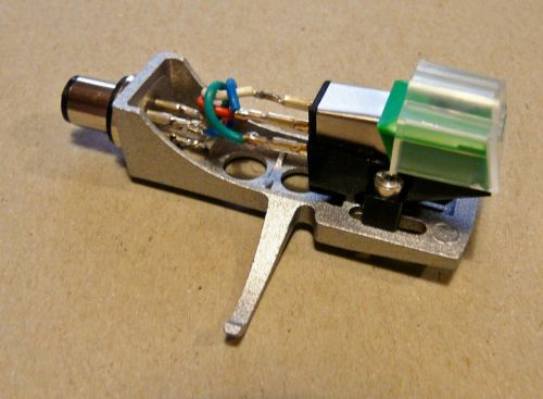 Audio Technica AT95E Cartridge Fitted to SILVER Headshell