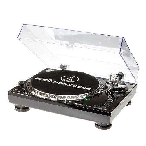 AT-LP-120USB BLACK Professional 3 speed Direct Drive Turntable with Cartridge